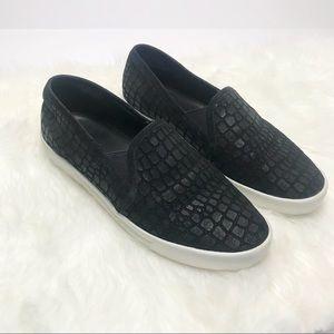 Joie Kidmore Embossed Suede Slip On Sneakers